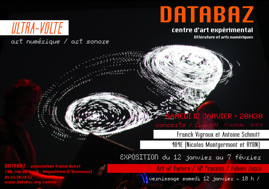 [12 janv.-7 fév.] ULTRA-VOLTE – concert / performances / installations